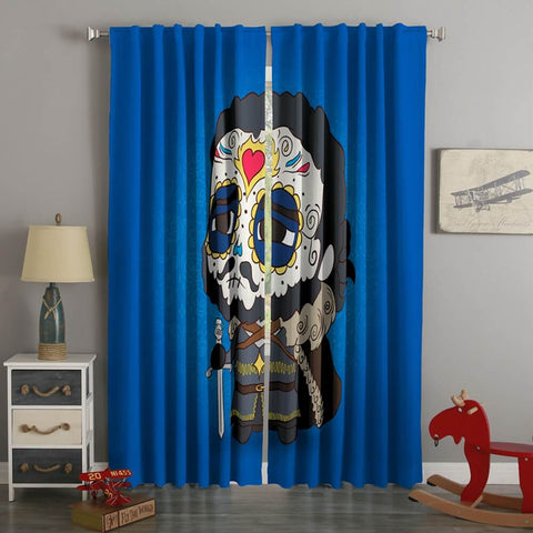 3D Printed  Jon Snow Minimalism Style Custom Living Room Curtains