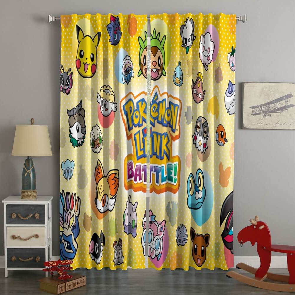 3D Printed Pokemon Battle Trozei Style Custom Living Room Curtains