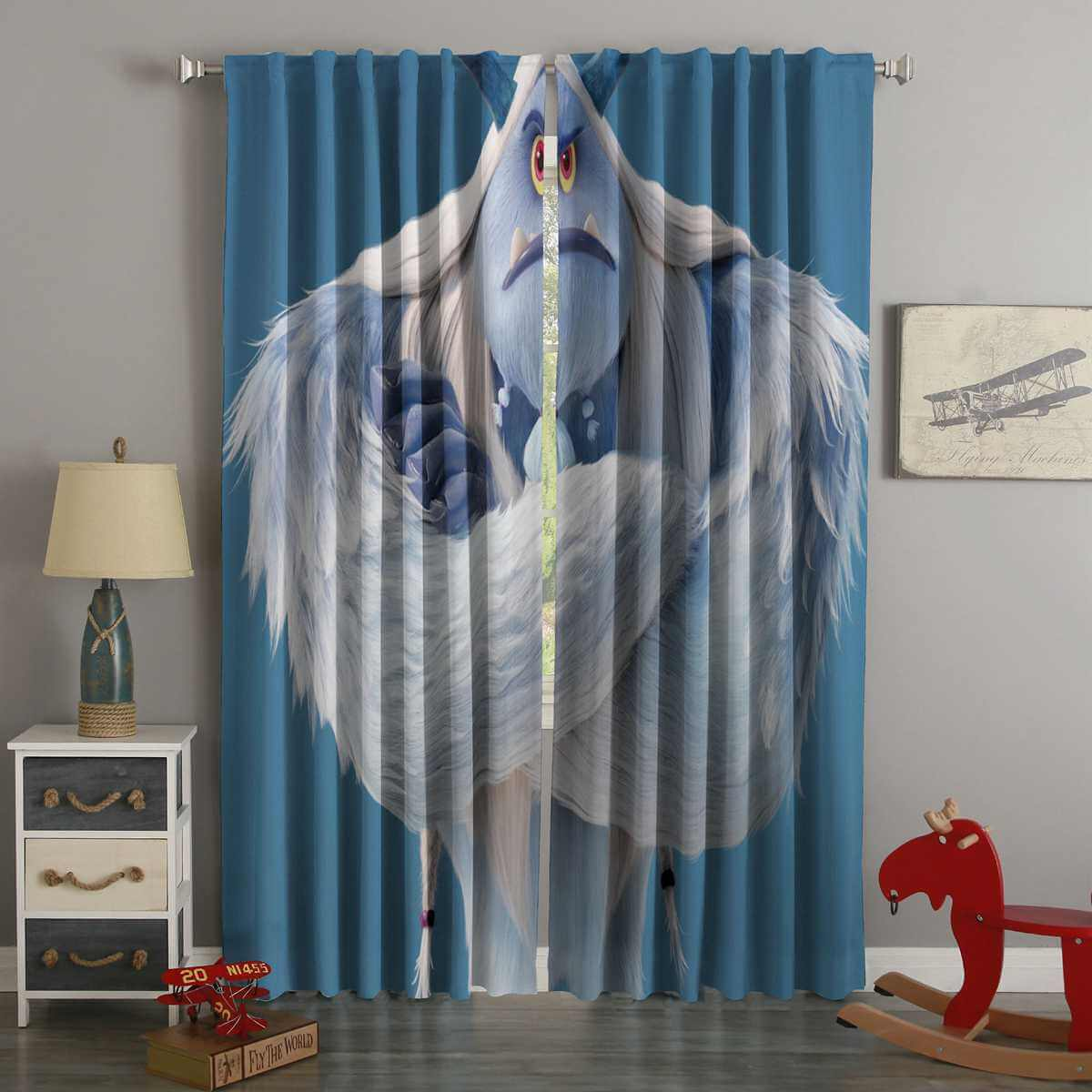 3D Printed Smallfoot Style Custom Living Room Curtains
