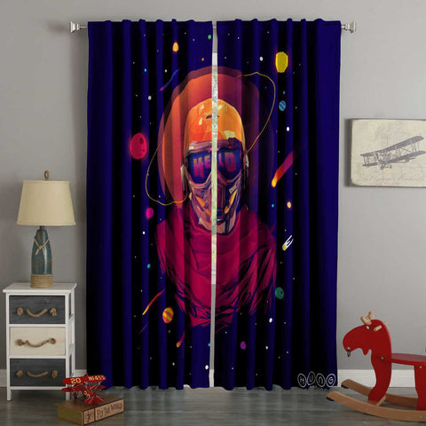 3D Printed Star Lord Style Custom Living Room Curtains