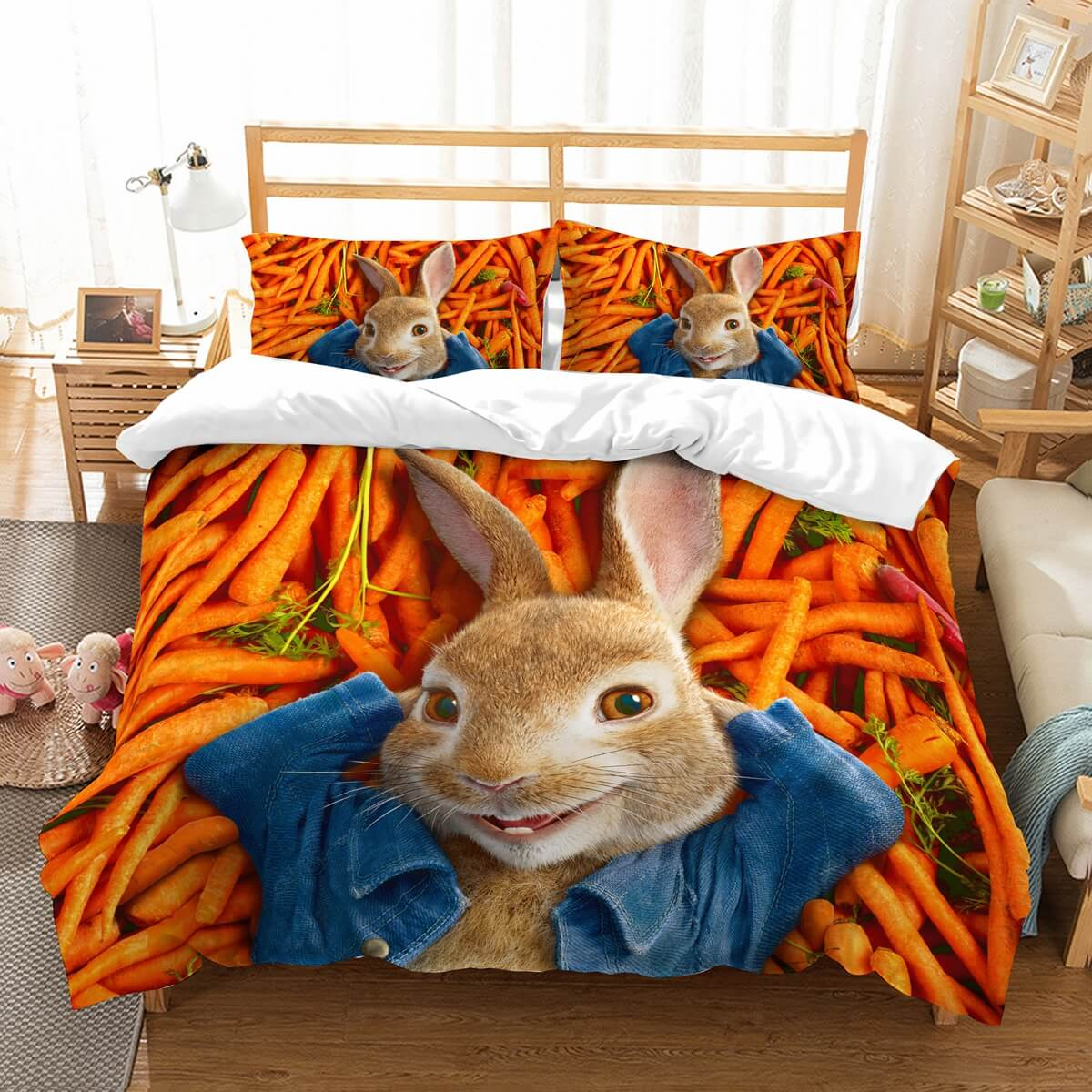 3D Customize Peter Rabbit Bedding Set Duvet Cover Set Bedroom Set Bedlinen