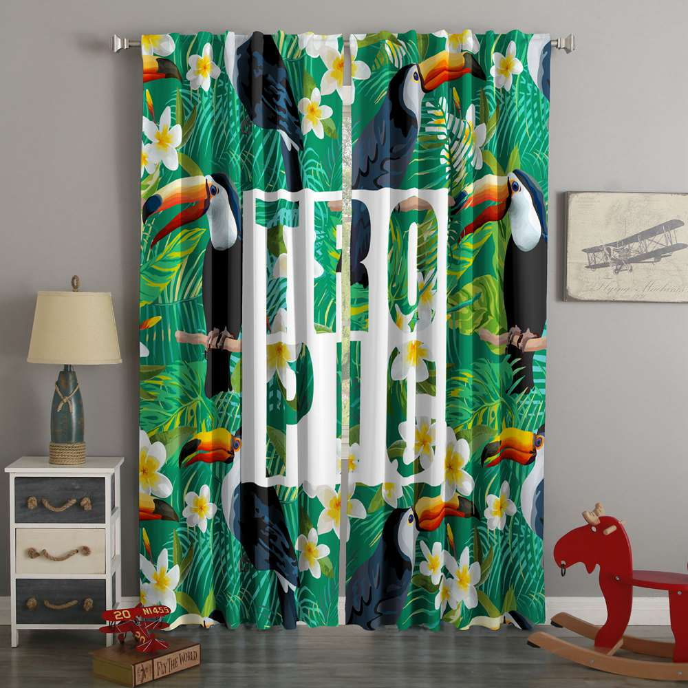 3D Printed Toucan Style Custom Living Room Curtains