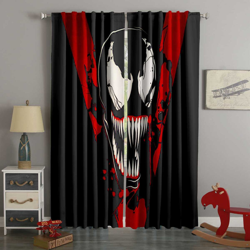 3D Printed Venom Style Custom Living Room Curtains