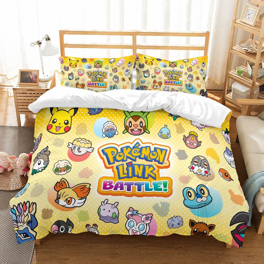 3D Customize Pokemon Battle Trozei Bedding Set Duvet Cover Set Bedroom Set Bedlinen