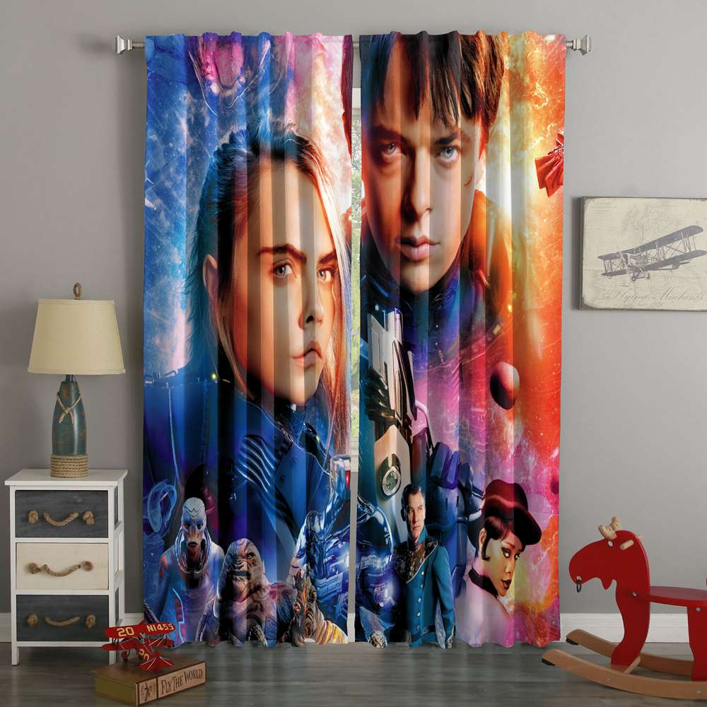 3D Printed Valerian And The City Of A Thousand Planets Style Custom Living Room Curtains
