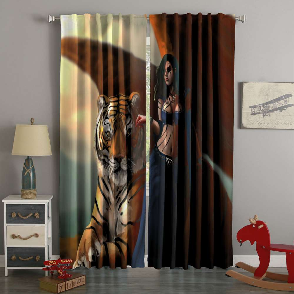 3D Printed Magic The Gathering Style Custom Living Room Curtains