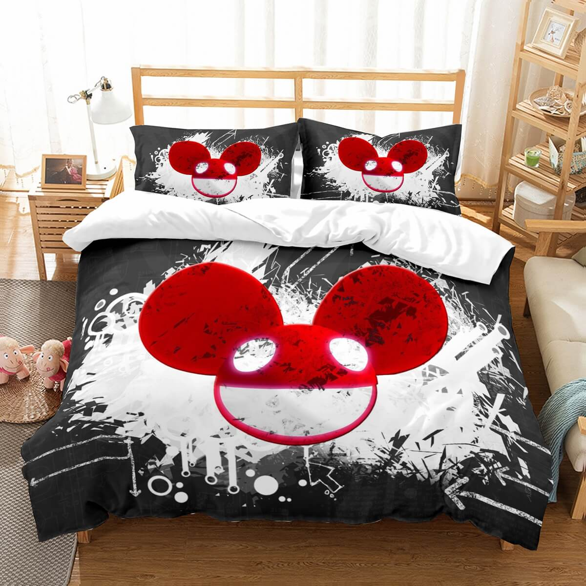 3D Customize Deadmau5 Bedding Set Duvet Cover Set Bedroom Set Bedlinen
