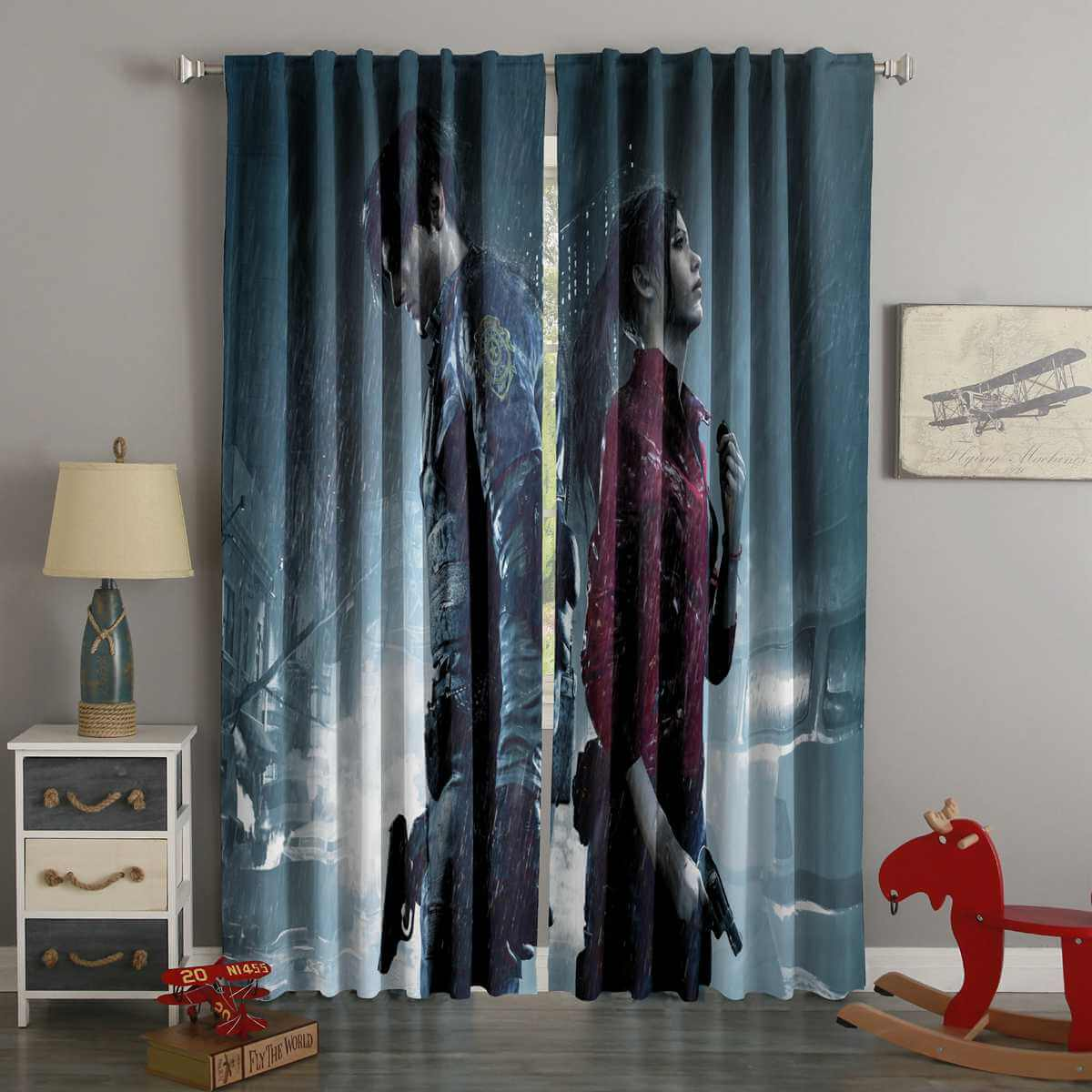 3D Printed Resident Evil 2 Style Custom Living Room Curtains