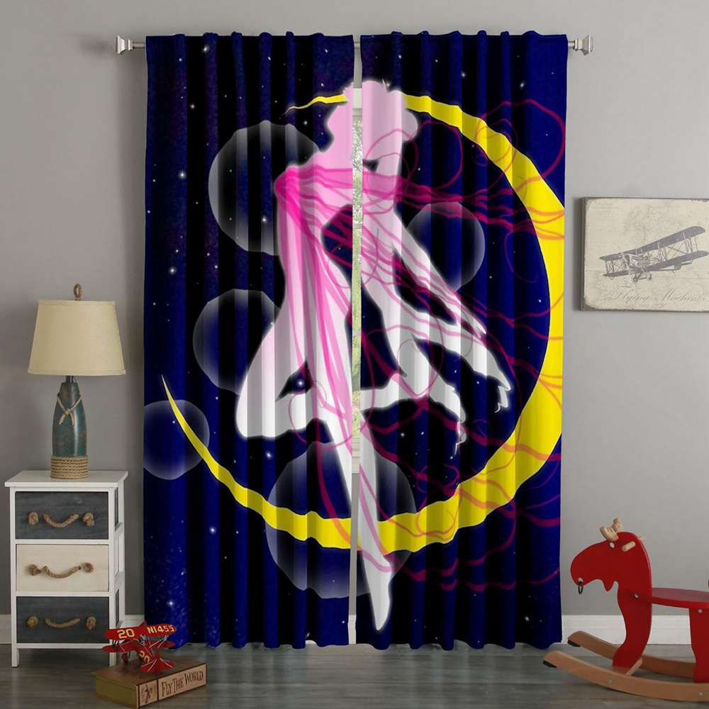 3D Printed Sailor Moon Style Custom Living Room Curtains