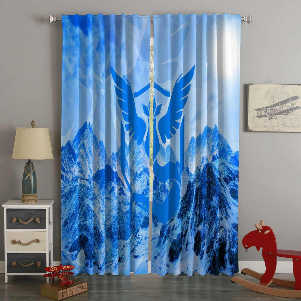 3D Printed Team Mystic Pokemon Go Style Custom Living Room Curtains