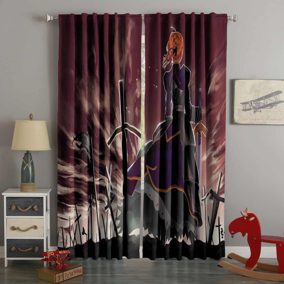 3D Printed Fate Stay Night Style Custom Living Room Curtains