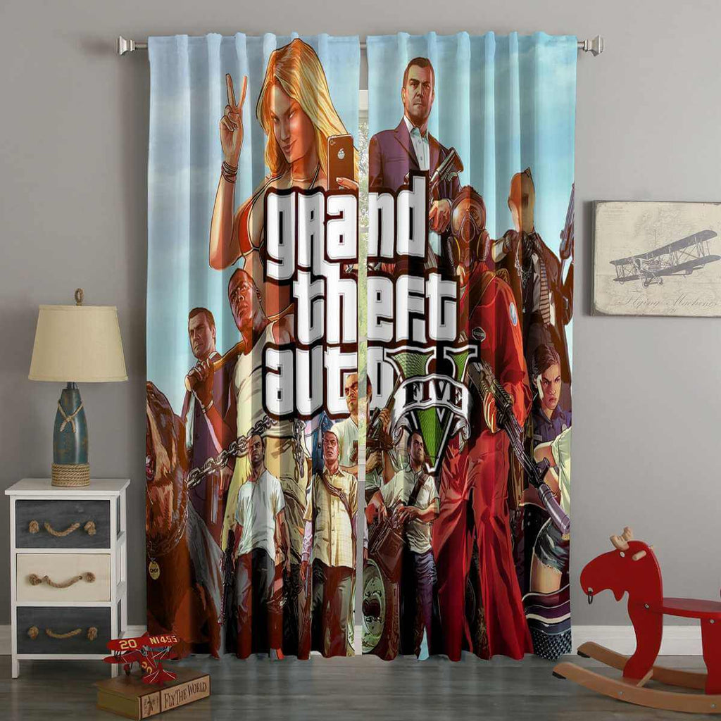 3D Printed GTA 5 Style Custom Living Room Curtains