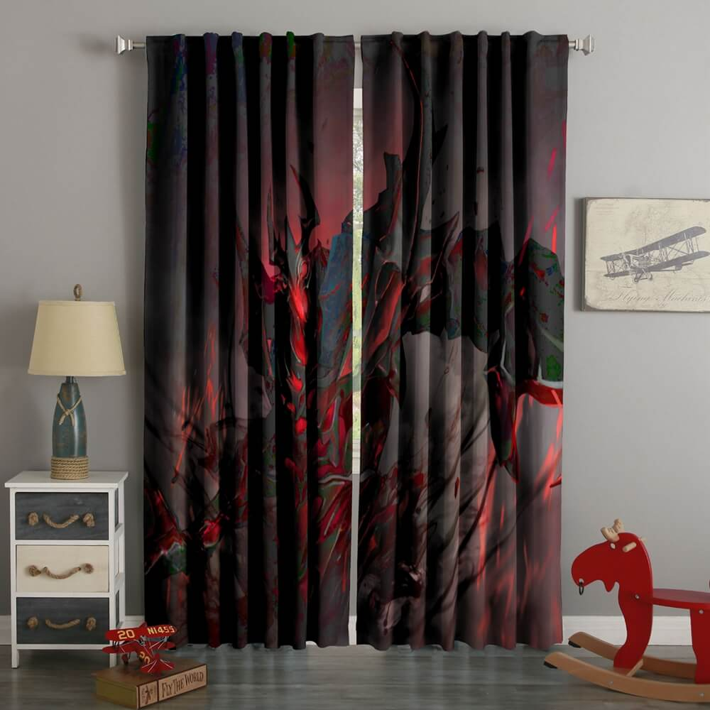3D Printed Shadow Fiend Style Custom Living Room Curtains