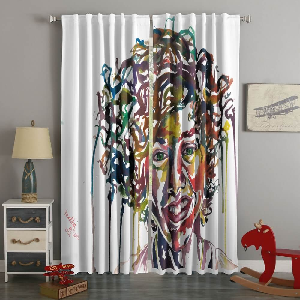3D Printed Harry Styles Style Custom Living Room Curtains