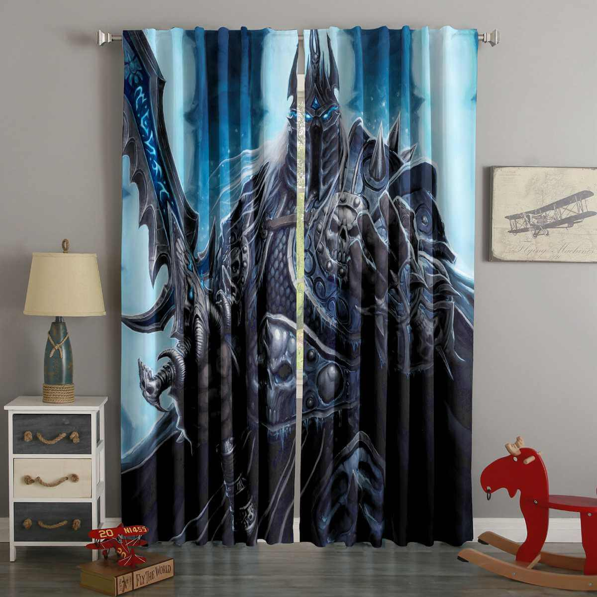 3D Printed The Lich King Style Custom Living Room Curtains