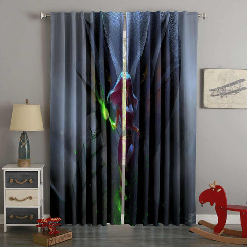 3D Printed Dragon Queen Style Custom Living Room Curtains