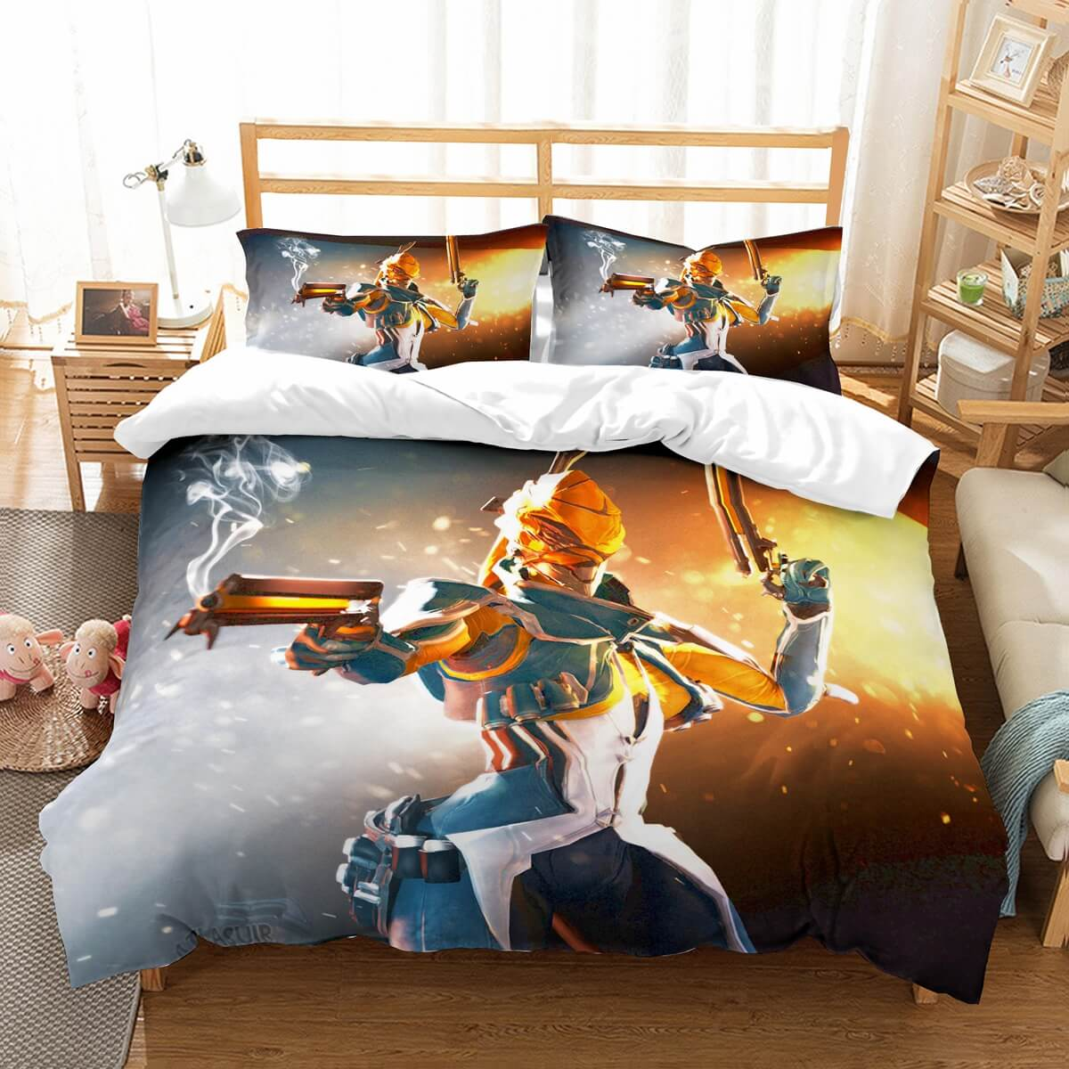 3D Customize Warframe Bedding Set Duvet Cover Set Bedroom Set Bedlinen