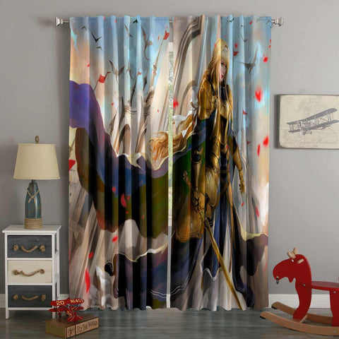 3D Printed Alice Zuberg Style Custom Living Room Curtains