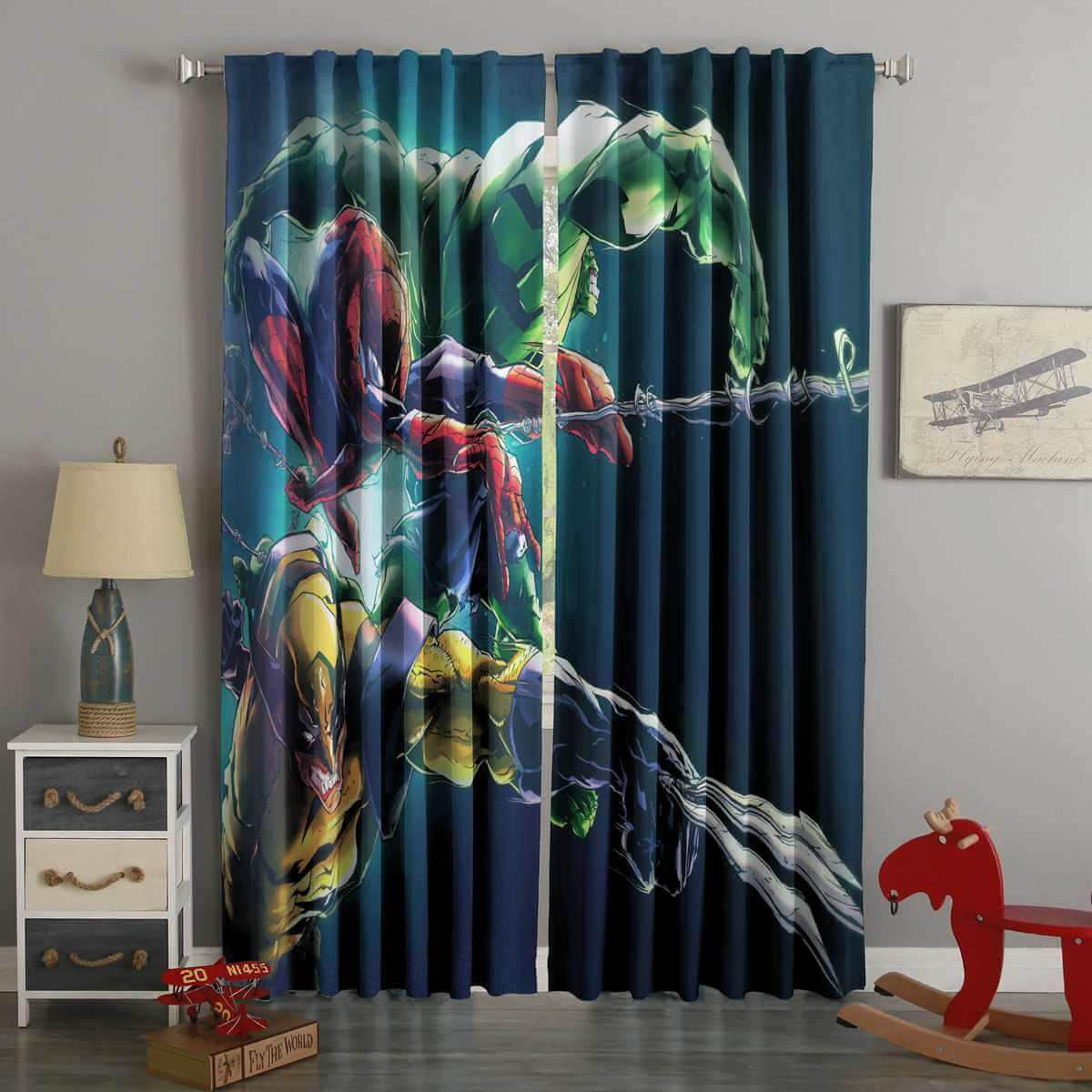 3D Printed Marvel Comics Style Custom Living Room Curtains