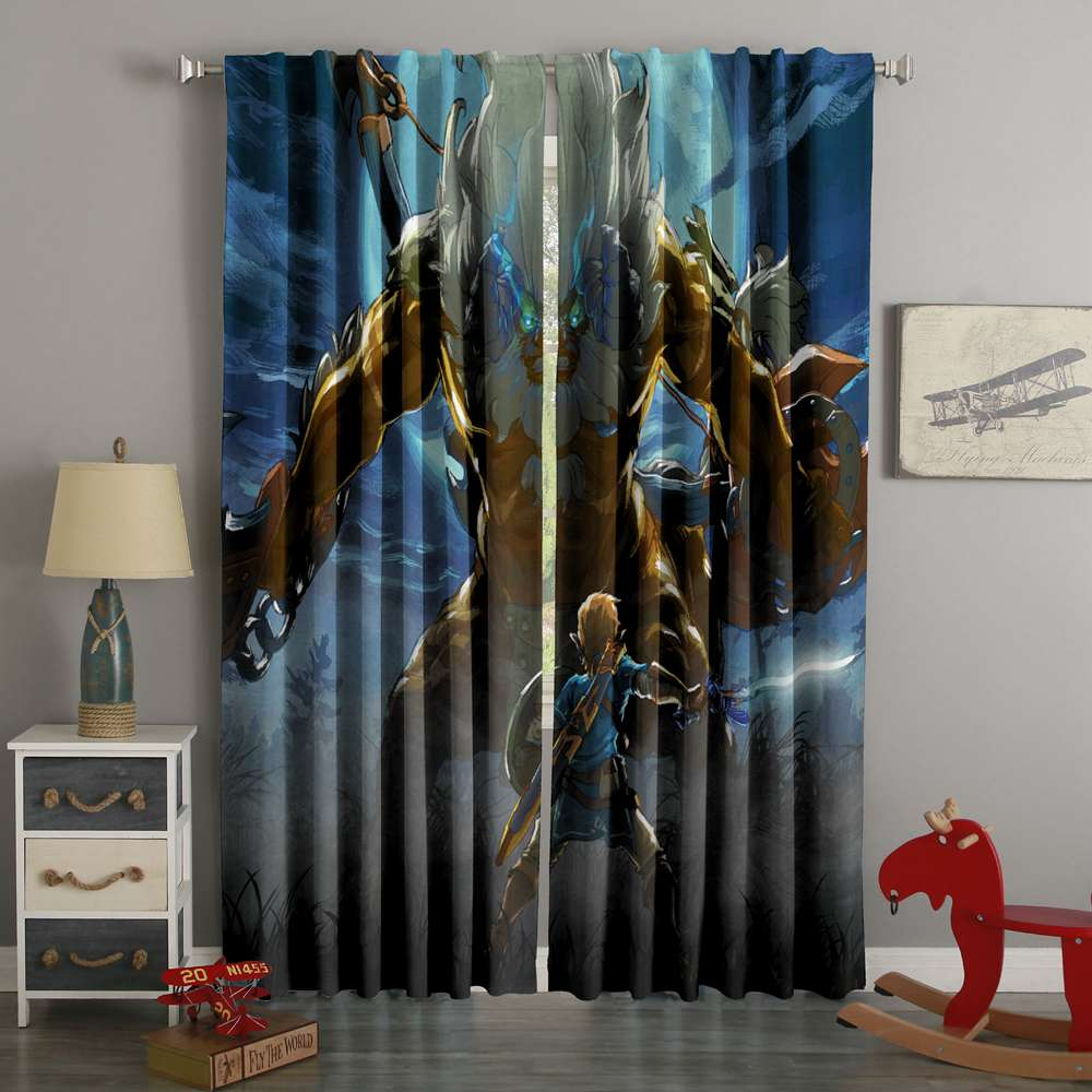 3D Printed The Legend Of Zelda Breath Of The Wild Style Custom Living Room Curtains
