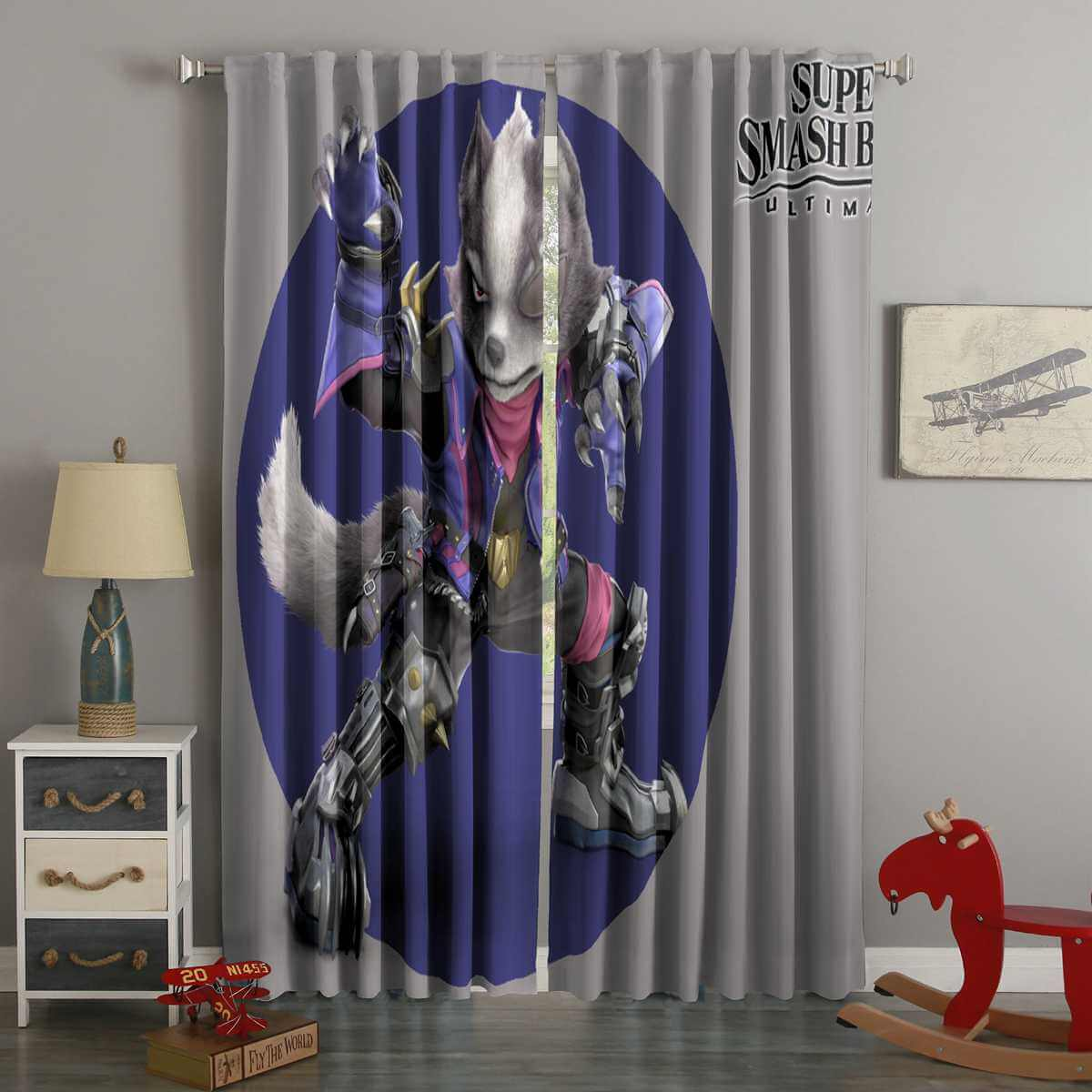 3D Printed Star Fox Super Smash Bros Ultimate Style Custom Living Room Curtains