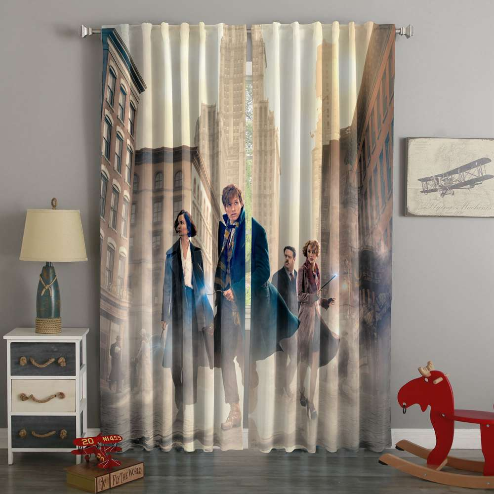 3D Printed Fantastic Beasts Style Custom Living Room Curtains