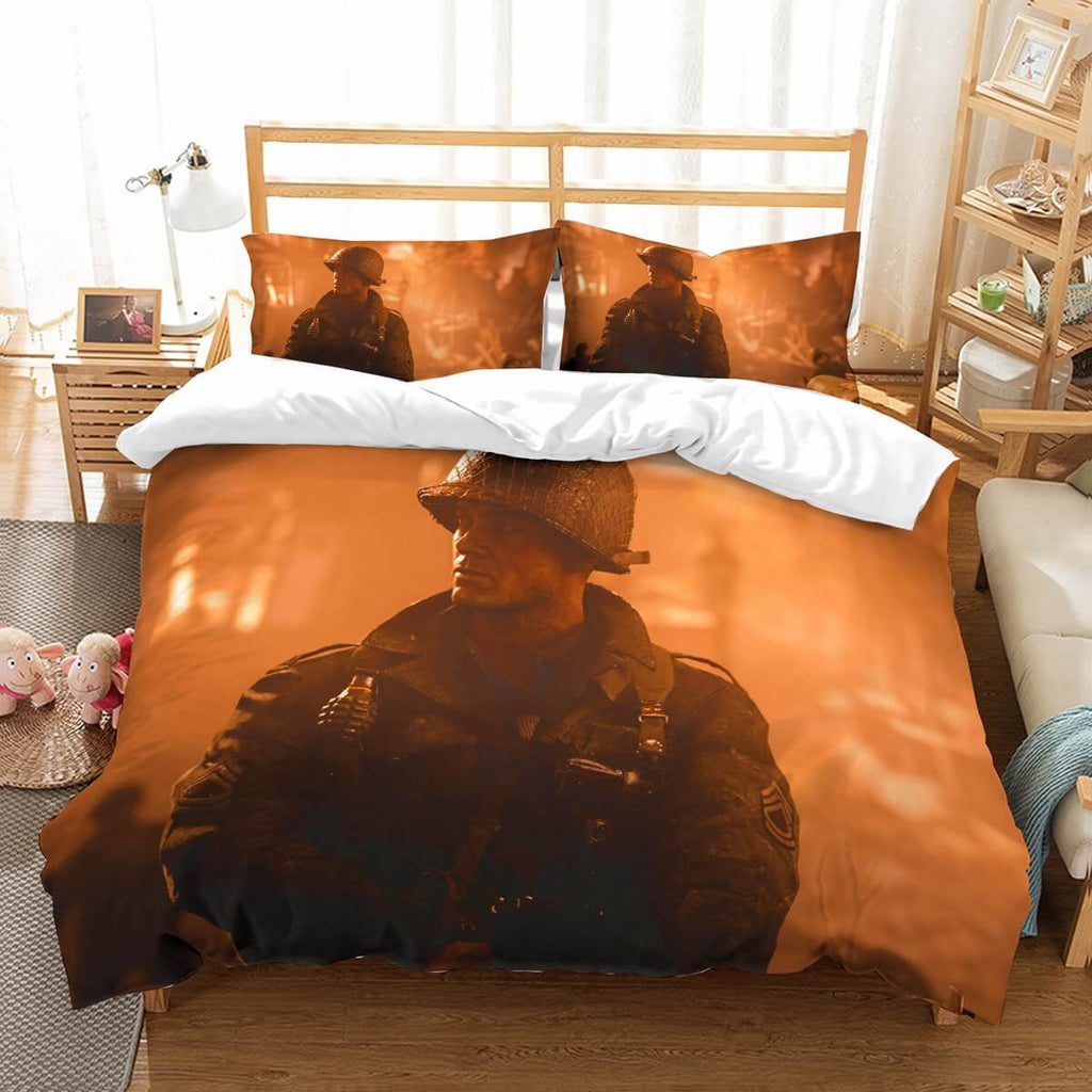 3D Customize Call Of Duty WW2 Bedding Set Duvet Cover Set Bedroom Set Bedlinen