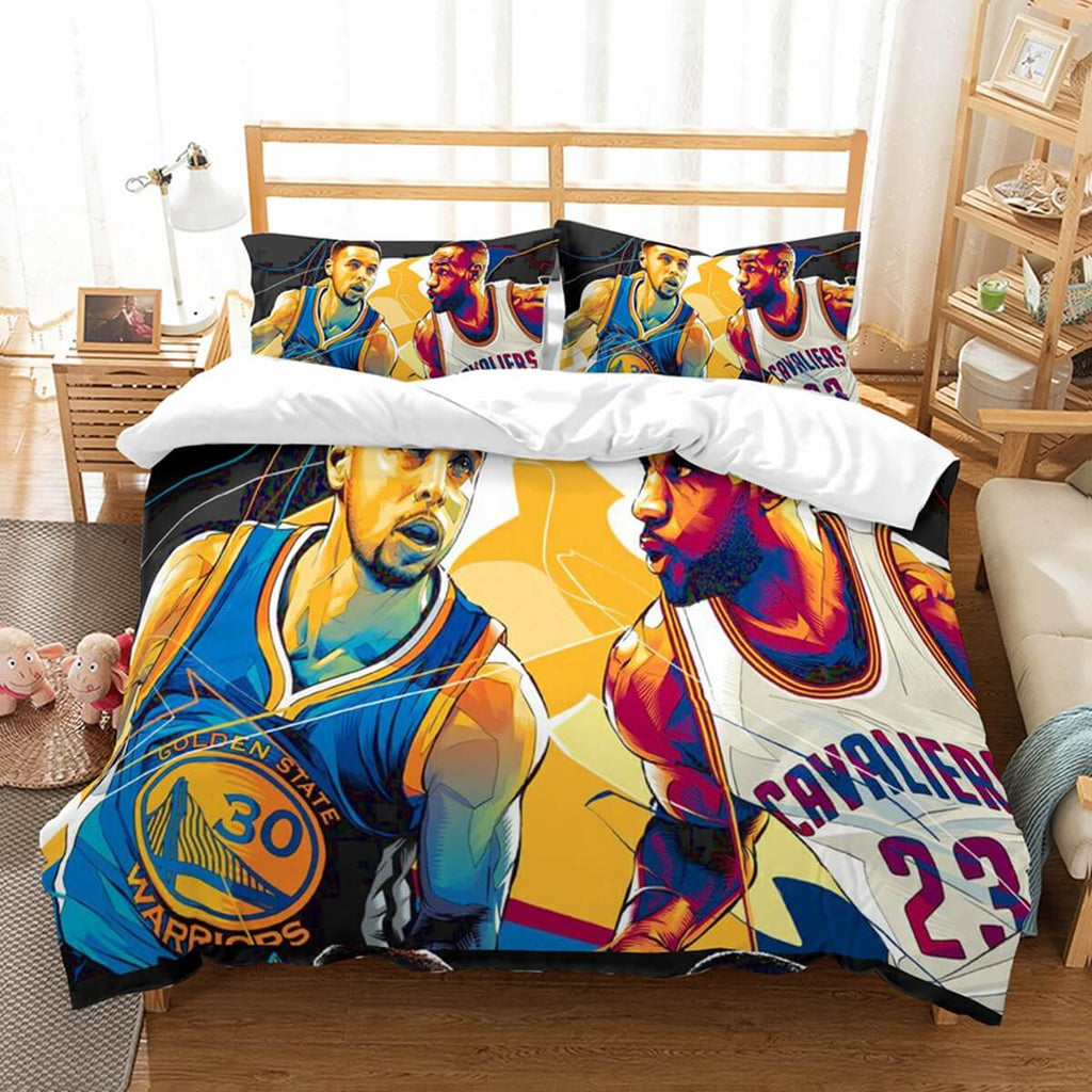 3D Customize Stephen Curry Vs Lebron James Bedding Set Duvet Cover Set Bedroom Set Bedlinen