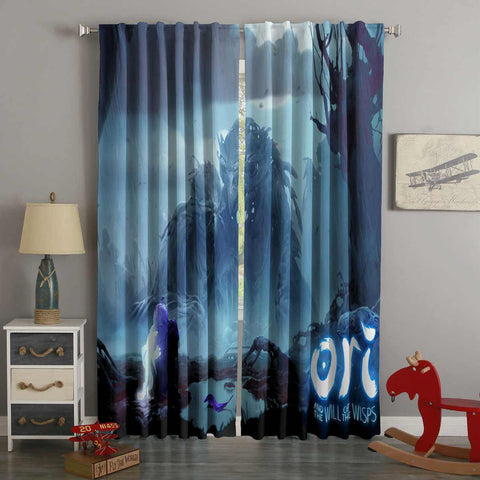 3D Printed Ori and the Will of the Wisps Style Custom Living Room Curtains