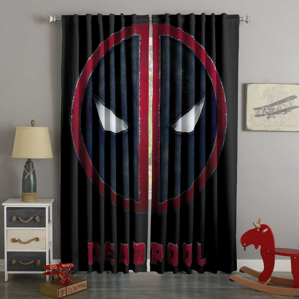 3D Printed Deadpool Style Custom Living Room Curtains