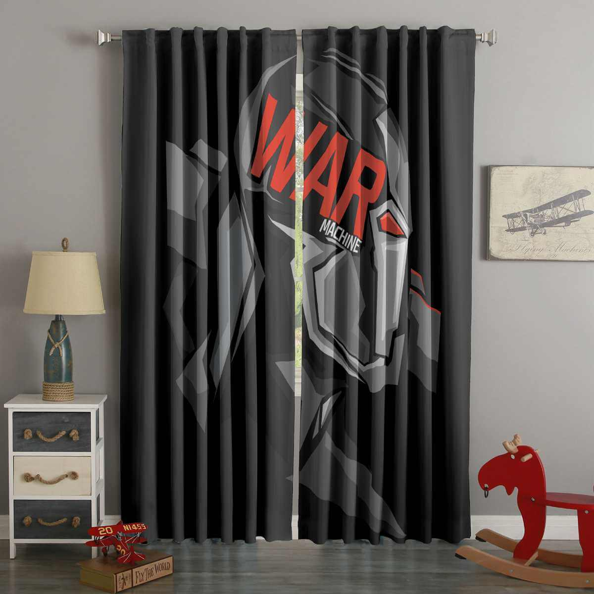 3D Printed War Machine Style Custom Living Room Curtains