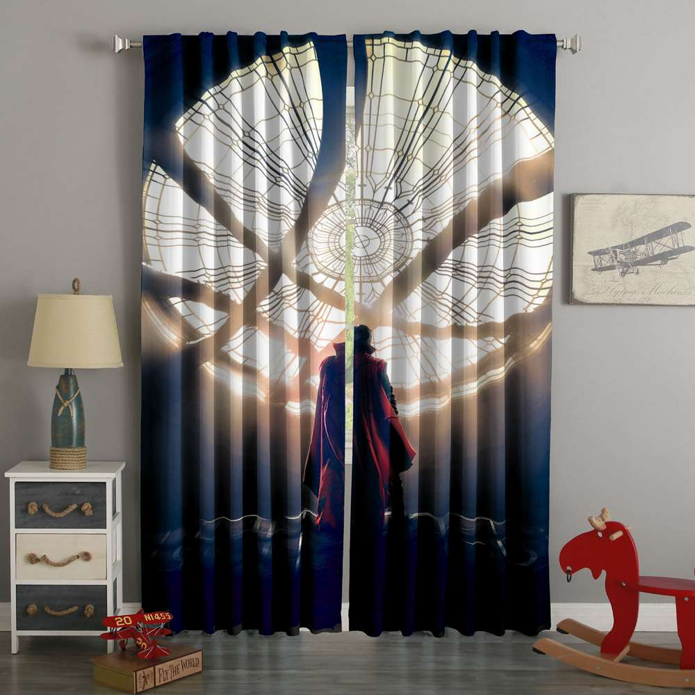 3D Printed Doctor Strange Custom Living Room Curtain