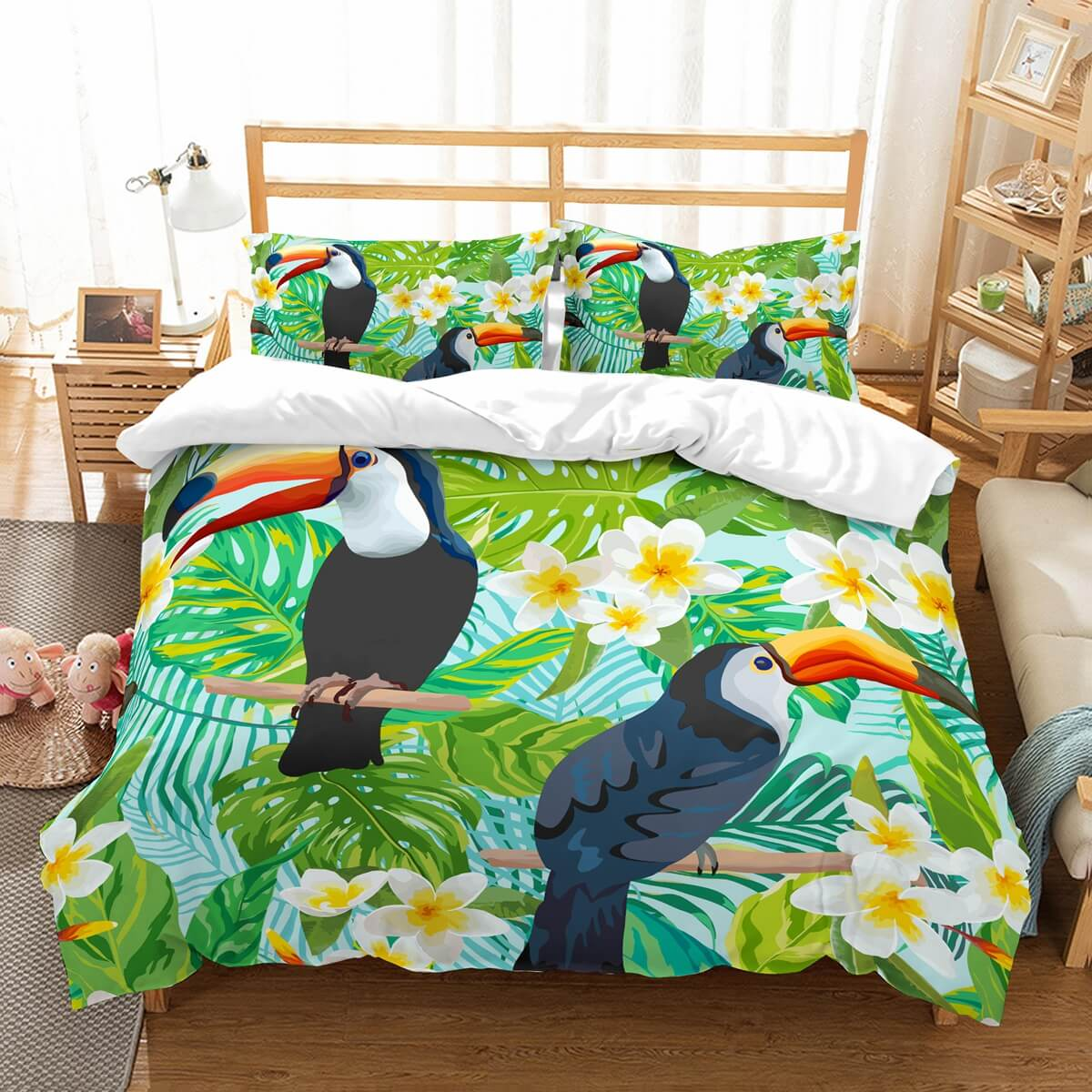 3D Customize Toucan Bedding Set Duvet Cover Set Bedroom Set Bedlinen
