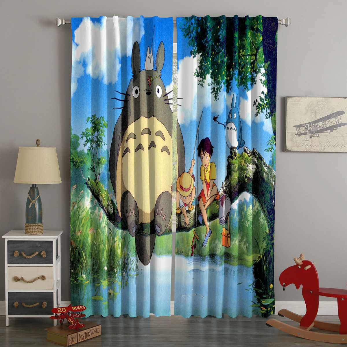 3D Printed My Neighbor Totoro Style Custom Living Room Curtains