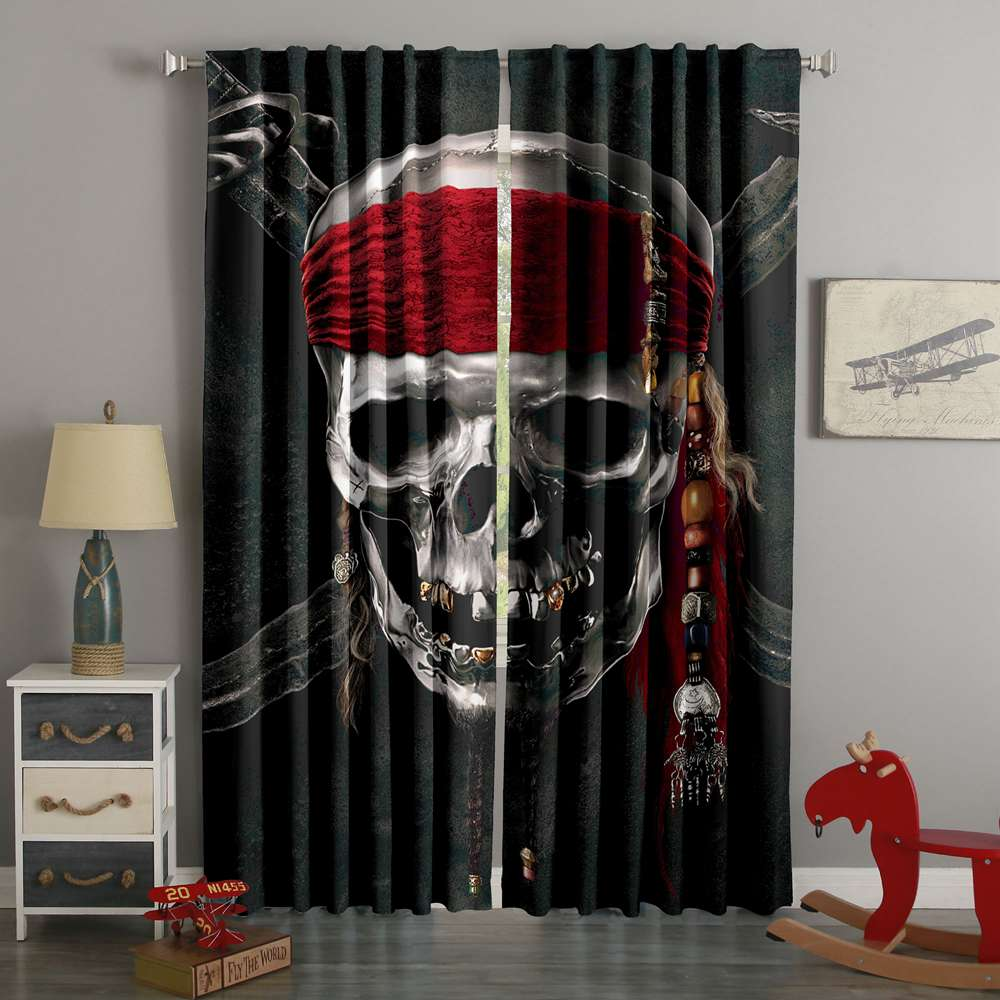 3D Printed Pirates Of The Caribbean Style Custom Living Room Curtains