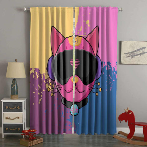 3D Printed Pinkcat Style Custom Living Room Curtains