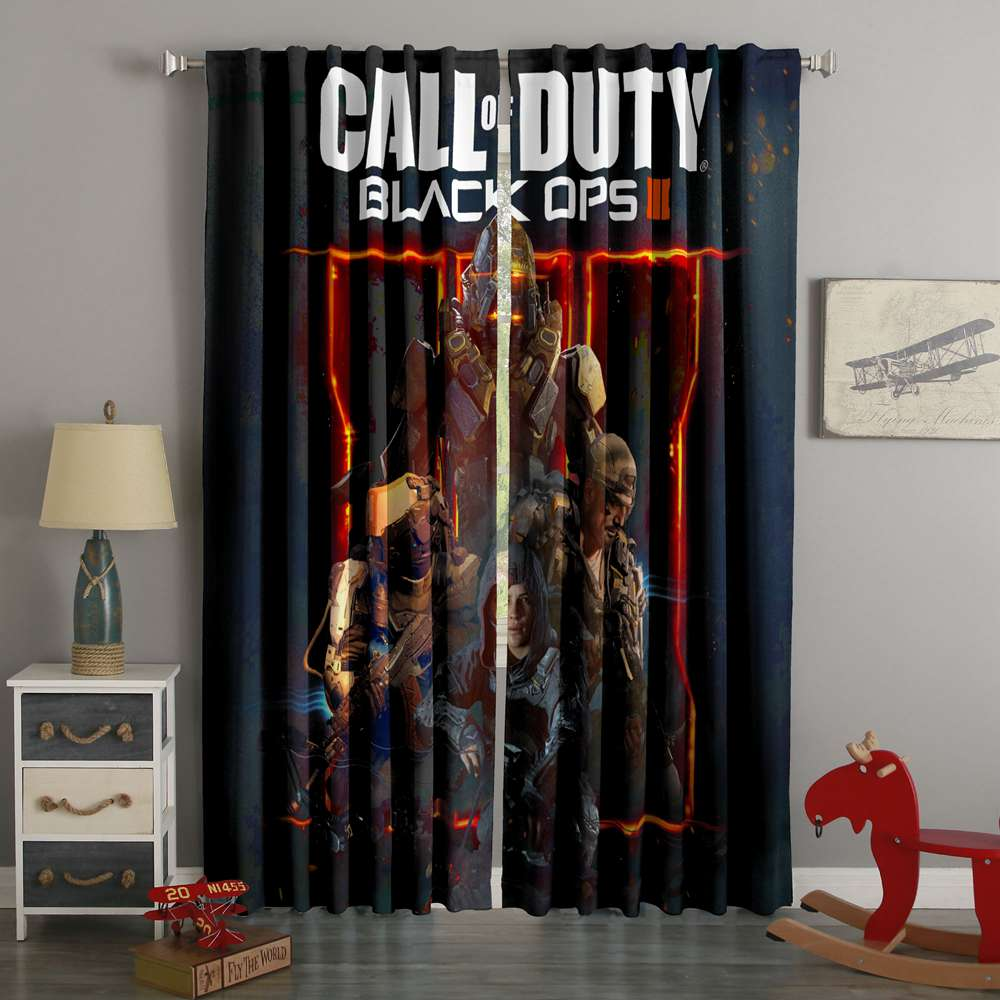 3D Printed Call Of Duty Black Ops Style Custom Living Room Curtains