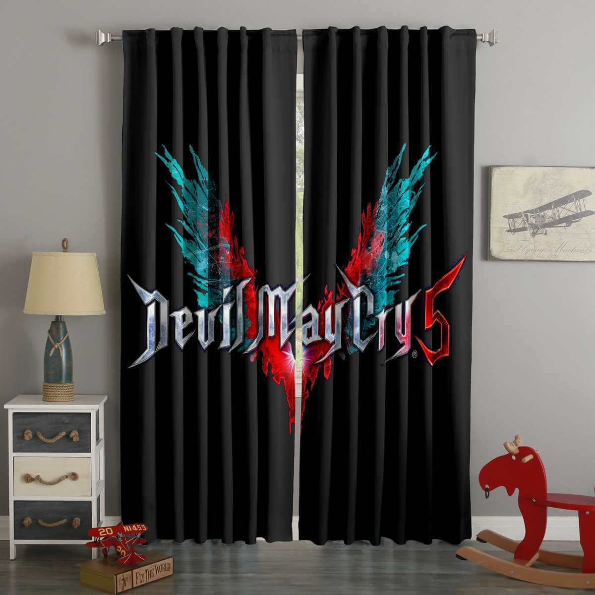3D Printed Devil May Cry 5 Style Custom Living Room Curtains
