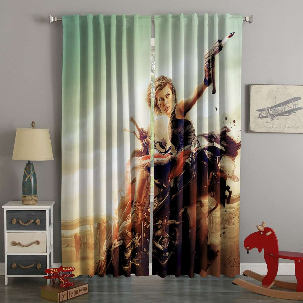 3D Printed Resident Evil Style Custom Living Room Curtains