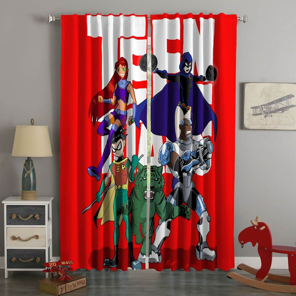 3D Printed Teen Titans Style Custom Living Room Curtains