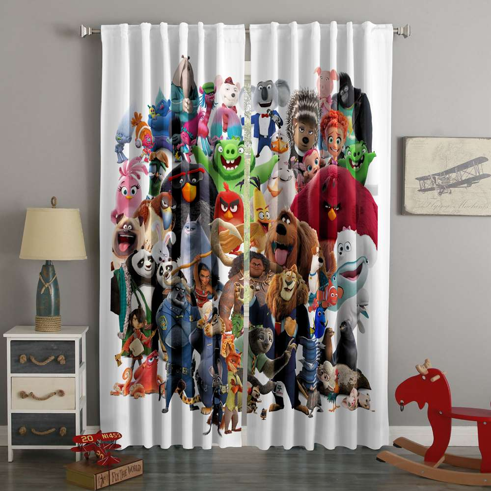 3D Printed Animation 2016 Style Custom Living Room Curtains