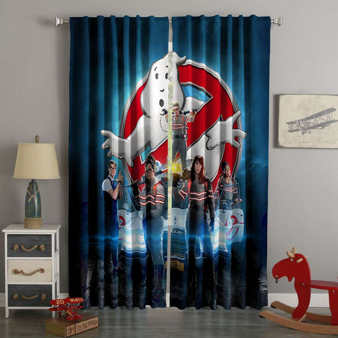 3D Printed   Ghostbusters Style Custom Living Room Curtains