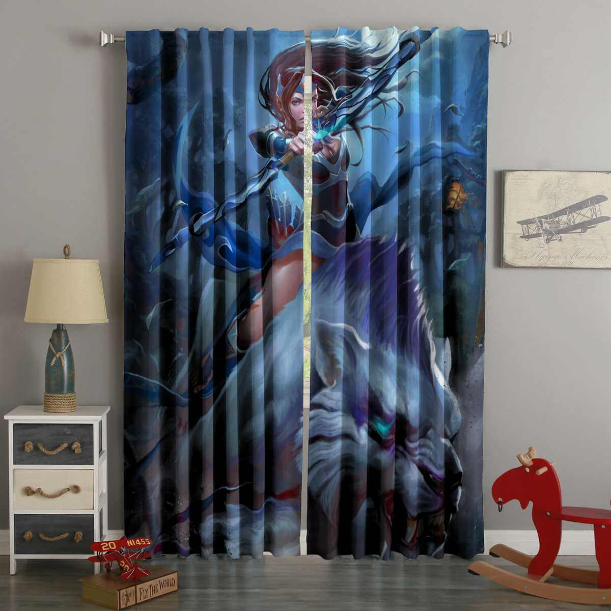 3D Printed DOTA2 Style Custom Living Room Curtains