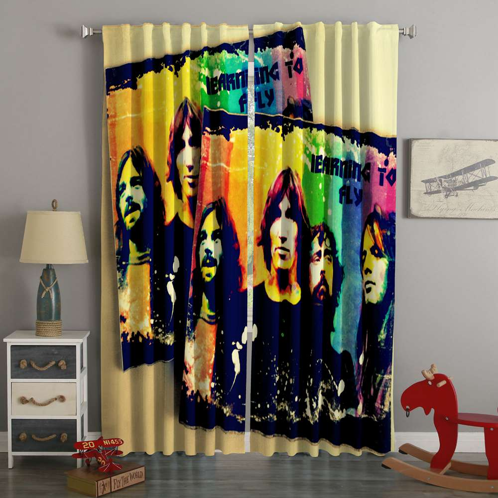 3D Printed Pink Floyd Style Custom Living Room Curtains