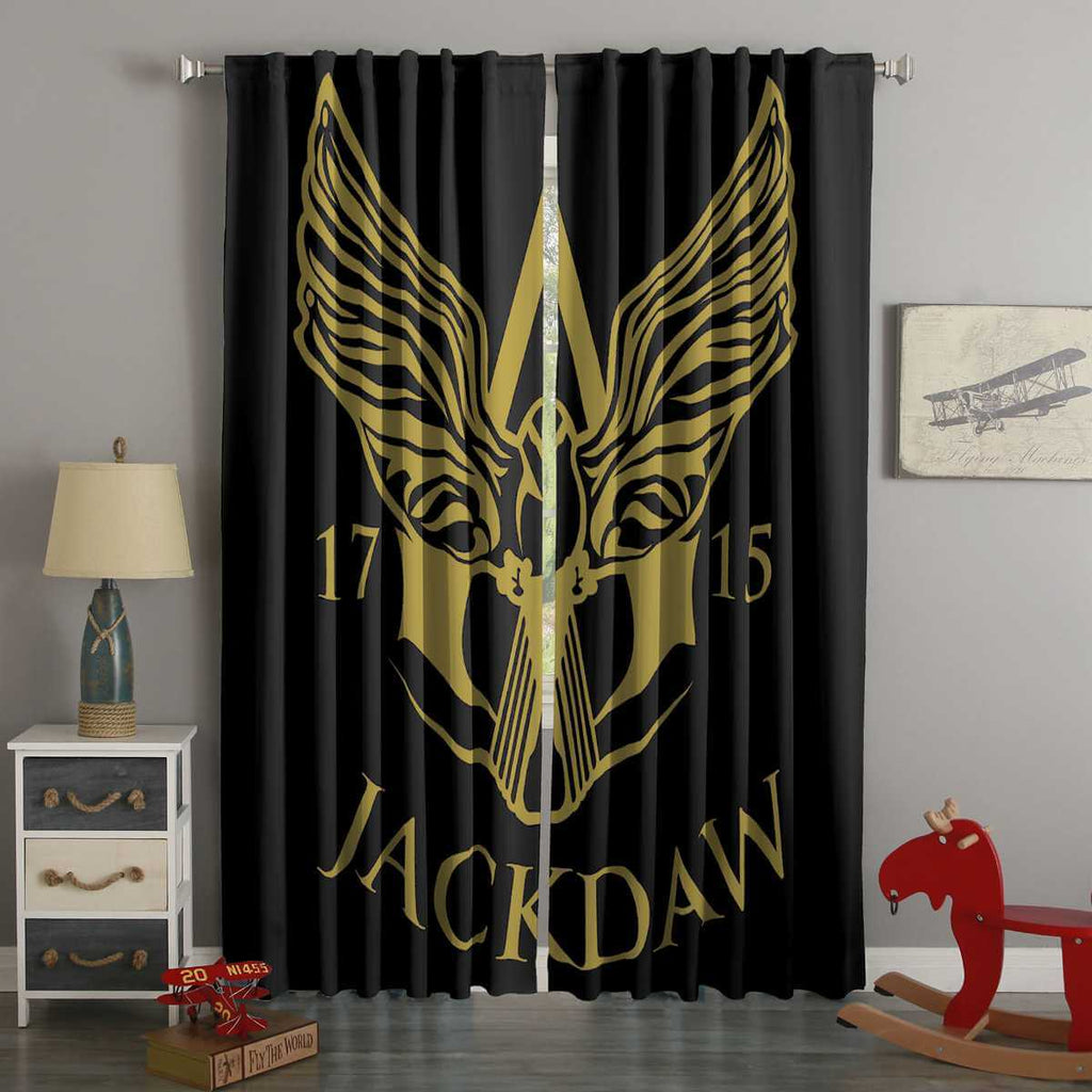3D Printed Assassin's Creed 4 Black Flag Jackdaw Style Custom Living Room Curtains