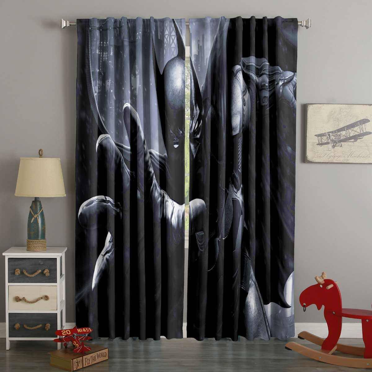 3D Printed Bat Man Style Custom Living Room Curtains