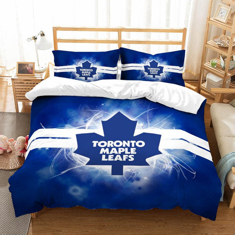 3D Customize Toronto Maple Leafs Bedding Set Duvet Cover Set Bedroom Set Bedlinen