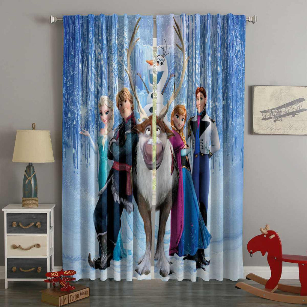 3D Printed Frozen Style Custom Living Room Curtains