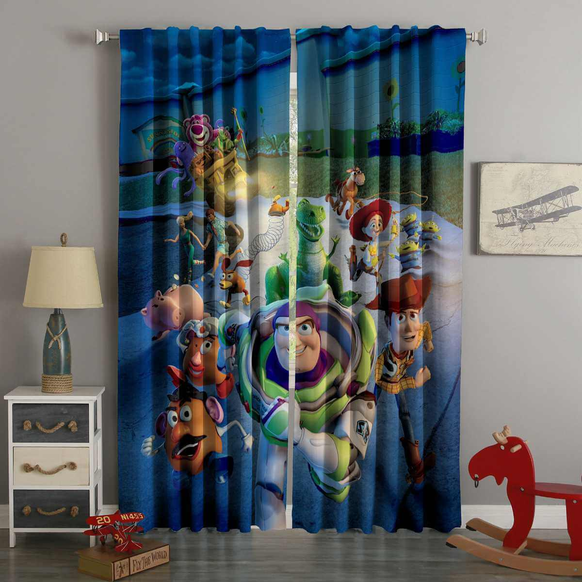 3D Printed Toy Story Style Custom Living Room Curtains