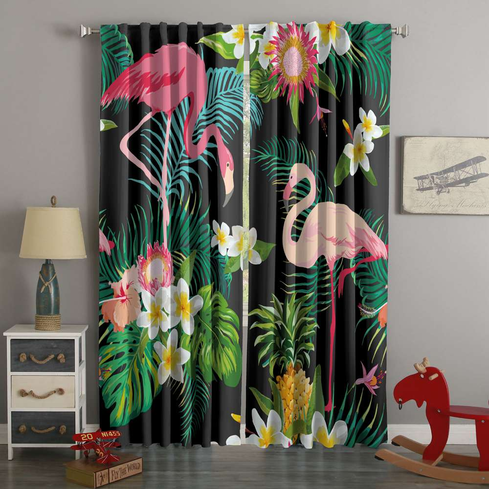 3D Printed Flamingo Style Custom Living Room Curtains